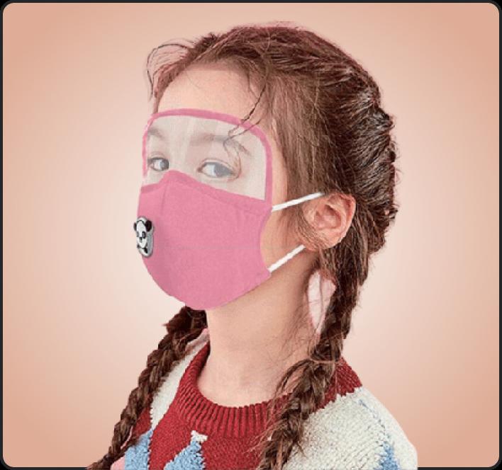 Kids Fashion Mask with sheild